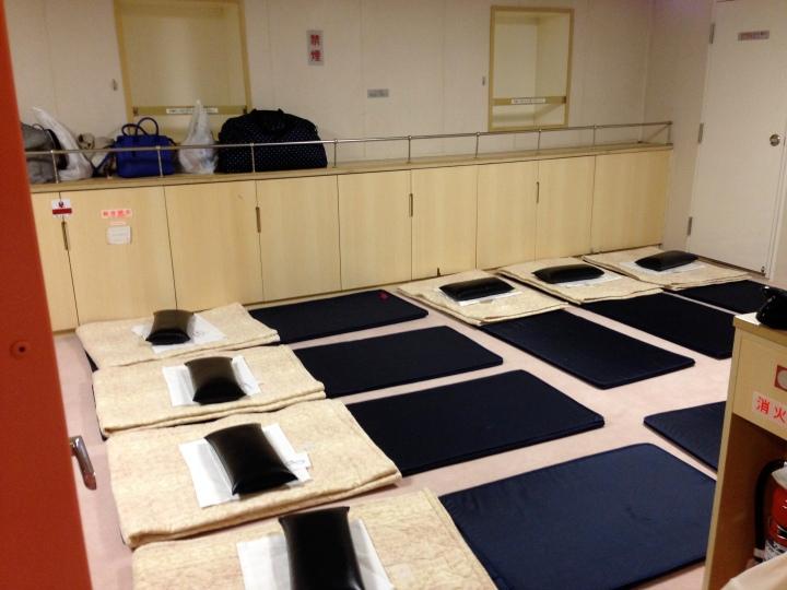 Low class accommodations - yoga mats